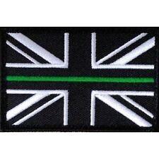 Sottile Linea Verde Union Jack A Strappo Nella Parte Posteriore Toppa Grande