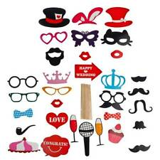 Party Photobooth Prop Kit Lux Accessories 32pc Fun Wedding