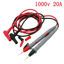 Probe Tester Leads Pin for Digital Multimeter Needle Tip Meter Cable 20A 1000V