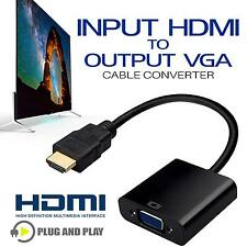 New 1080P HDMI Male to VGA Female Video Converter Adapter Cable For TV PC HDTV