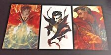 SET OF (3) ~ DOCTOR STRANGE ~ 4x6 GLOSSY PHOTO ART PRINT LOT ~ marvel comic hero