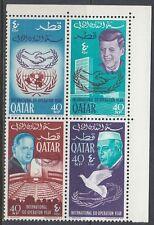 Qatar 1966 ** Mi.114/17 A Zdr. Kennedy Hammarskjöld Nehru UNO Co-operation