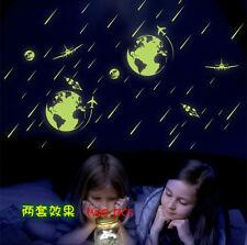 meteor shower wallpaper cute cartoon Luminous wall sticker kid's room wall decal