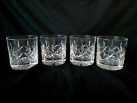 Atlantis Crystal Old Fashioned Glasses Fernando Simple Cuts RARE Set of 4
