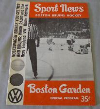 October 27th.1963 Boston Bruins vs Toronto Maple Leafs  Hockey Program