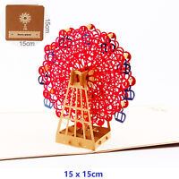 Ferris wheel 3D Pop Up Greeting Cards Children Father's Day Birthday Postcard