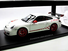 Autoart 78143 - 2010 Porsche 911 (997) gt3 RS 3.8 carrera White/Red 1/18