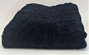 "Throw Blanket | Navy Blue | Faux Fur | Paisley | 50"" x 60"" | Nicole Miller"