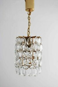 Palwa Kronleuchter Korblüster chandelier Bleikristal Kristalll 60s