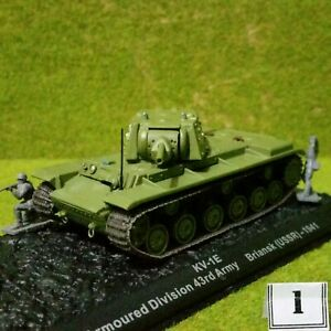 8) DeAgostini 1/72 Combat Tanks. KV-1E. See Purchase Options