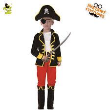 UK IMPORT FANCY DRESS COSTUME COST-UNI NEW SIZE: S KIDS PIRATE BOY-L566