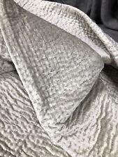 Restoration Hardware Velvet Pick Stitch Quilt, Full/Queen, Silver Birch 133