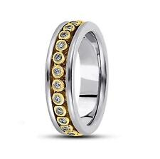 14k Gold, 0.52ct. Brilliant Round Diamond Fancy Design Men's Wedding Band, Ring