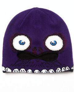 Volcom Youth Strange Face Mask Beanie, Purple