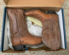 Tony Lama Mens Western Cowboy Boots 10D 10  Exotic Ostrich Quill Skin with Box