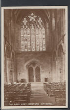 Herefordshire Postcard - The Nave, West, Hereford Cathedral    RS8851