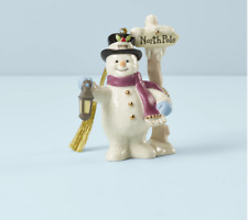 Lenox Christmas Annual Snowman North Pole Ornament New 2020 890407 Dated
