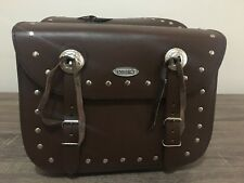 MOTORBIKE SADDLE BAGS 100% LEATHER, BROWN COLOUR, BRAND NEW, PL2670