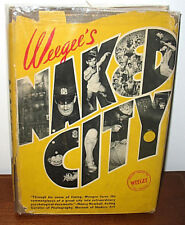 Weegee Naked City Original 1945 First Print Gravure HC Dust Jacket New York