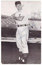 1950s Signed Harvey Kuenn Photo Post Card- Detroit Tigers 10x All Star