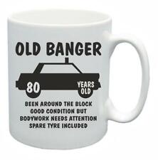 80th Novelty Birthday Gift Present Tea Mug Old Banger 80 Years Old Coffee Cup