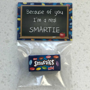 THANK YOU TEACHER GIFT END YEAR SCHOOL LEAVING I'M REAL SMARTIE NOVELTY PRESENT