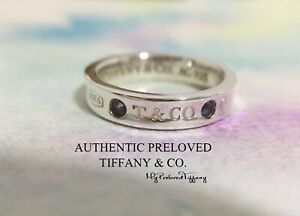 Authentic Tiffany & Co. 1837 Montana Blue Sapphire Silver Ring RP$450 #5