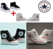 Converse All Star Baby Schuhe Socken Junge Geschenk Geburt Black