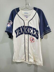 Rare Vintage 90s Starter MLB New Yankees Spell out Baseball Jersey Mens L