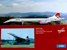 British Airways Aérospatiale-BAC Concorde Negus colors herpa wings 1:500 527477