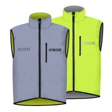 High Visibility Reflective Cycling Vest Bicycle Jackets Coat Waistcoat Bike Q9Y0