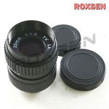 25mm f1.4 C Mount CCTV Lens Black Body for M4/3 Olympus Panasonic NEX E + macro