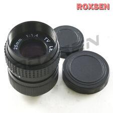 25mm f1.4 C Mount CCTV Lens Black Body for M4/3 Olympus Panasonic NEX E + macro