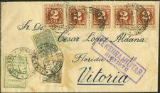 Sobres y tarjetas de España hasta 1949 sobre de 2 sellos