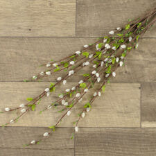 New Spring Summer Fake ARTIFICIAL PUSSY WILLOW BRANCH Spray Stem Pick 36