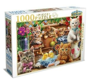 Tilbury Premium Series 1000 Piece Jigsaw Puzzle - Kittens in the Potting Shed