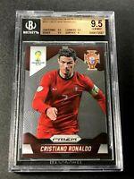 CRISTIANO RONALDO 2014 PANINI PRIZM #161 WORLD CUP BGS 9.5 GEM PORTUGAL (2557)