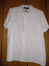 Sag Harbor Blanco Lunares Blusa Camisa Talla S Euc