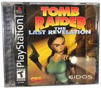 Tomb Raider: The Last Revelation [Playstation, 1999] Black Label Complete VG