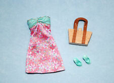 Cute Pastel Pink & Teal Sleeveless Dress BARBIE w Shoes