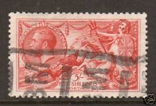 Great Britain Sc 180 used 1919 5sh rose carmine Seahorses, Vf