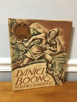 1st Edition 2nd Printing DANIEL BOONE James Daugherty Hardcover DJ Newberry 1940