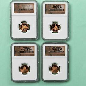2009 S Lincoln Bicentennial Bronze 1Cent, NGC PF 69 RD Ultra Cameo (4 coin)