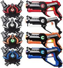 ArmoGear Laser Tag guns Blasters and Vests - Laser Battle Mega Pack Set of 4 new