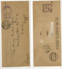 Egypt   British Military envelope 1937 nice markings                 APL0405