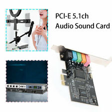 PCI-E Express 5.1ch CMI8738 Audio Sound Card w/Low Profile Bracket New