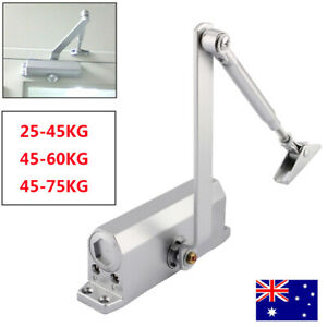25-75KG Automatic Fire Rated Adjustable Home Door Closer Hold Open Overhead AU