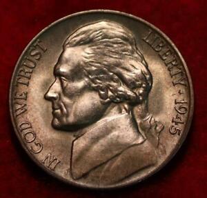 Uncirculated 1945-D Denver Mint Silver Jefferson Nickel