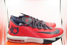 2537ef50f83 Nike KD 6 VI Size 11 Washington D.C. Crimson Red Obsidian Blue Team USA  Durant