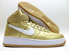 NIKE AIR FORCE 1 HIGH RETRO QS METALLIC GOLD/WHITE SIZE MEN'S 8.5 [823297-700]